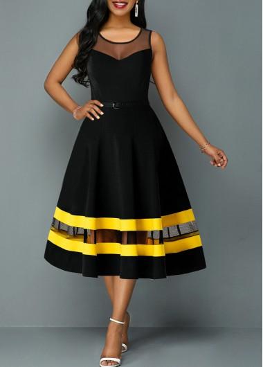 Dresses online for sale #blacksleevelessdress