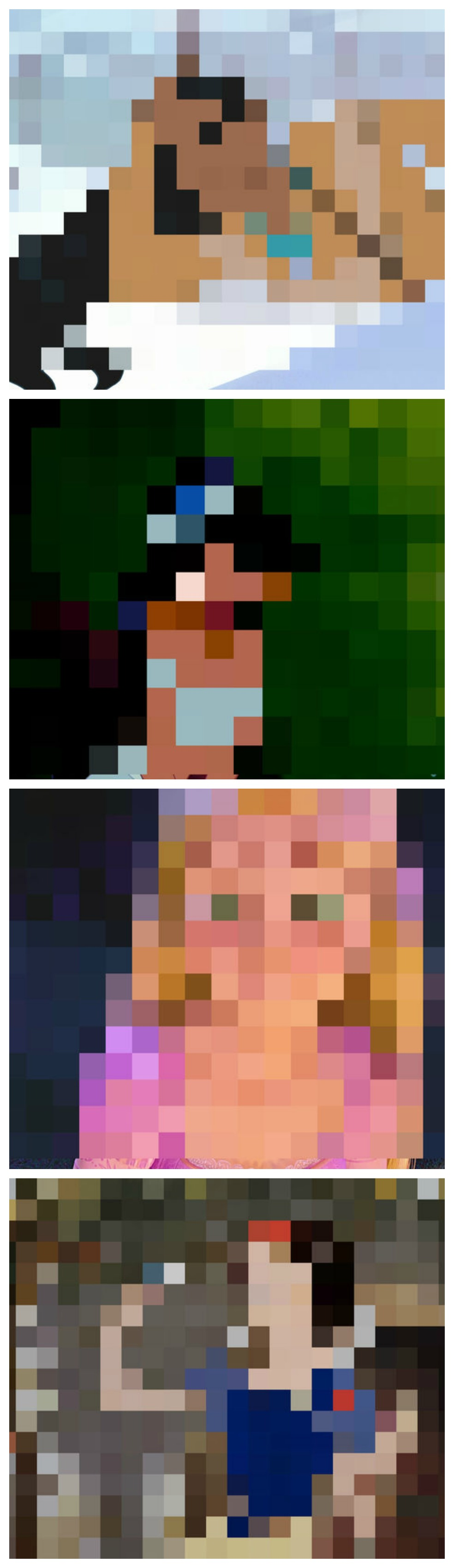 And can you name the character after you see the non-pixalated image?