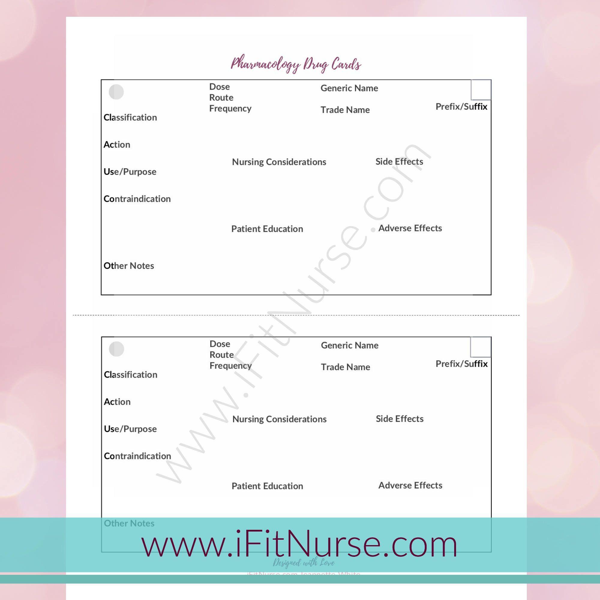 Pharmacology Drug Card Template Nursing Organization For Med Cards Template Cumed Org Drug Cards Pharmacology Nurse Organization
