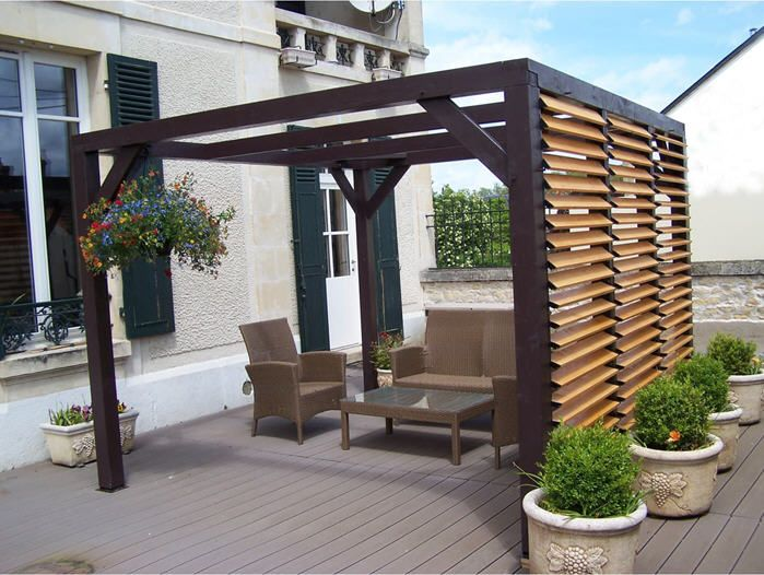 pergola ombra avec lames orientables soldes pergola. Black Bedroom Furniture Sets. Home Design Ideas