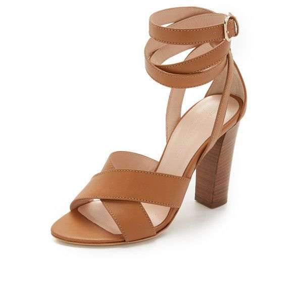 Club Monaco Valencina Ankle Wrap Sandals ($89) ❤ liked on Polyvore featuring shoes, sandals, ankle wrap shoes, black white shoes, ankle wrap sandals, black and white sandals and ankle tie sandals