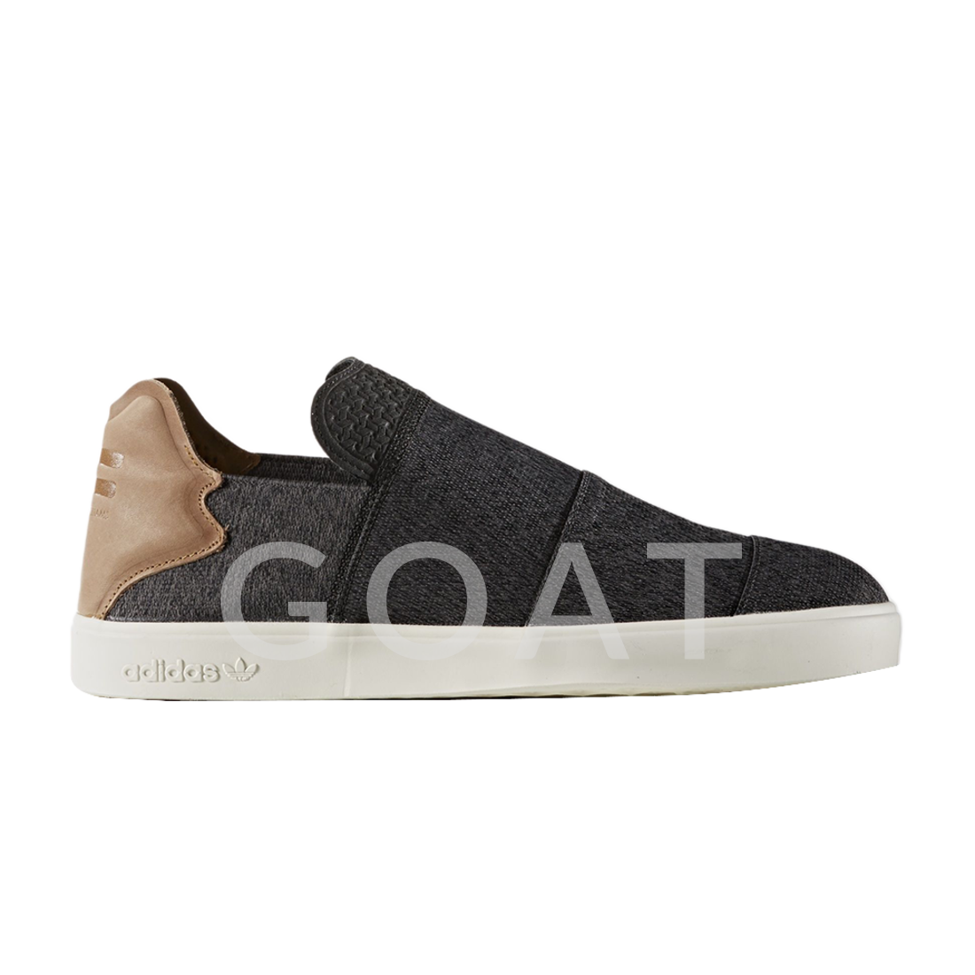 ada9c43f0 Pharrell Williams x Elastic Slip-On  Core Black  - Adidas - AQ5781 - Core  Black Granite Chalk White