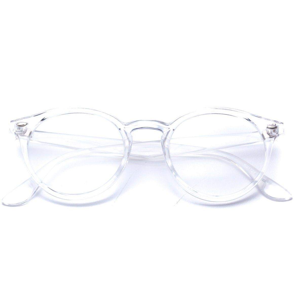 c49bea2b08 Ainsley Transparent Round Clear Frame Glasses - Clear Optical ...