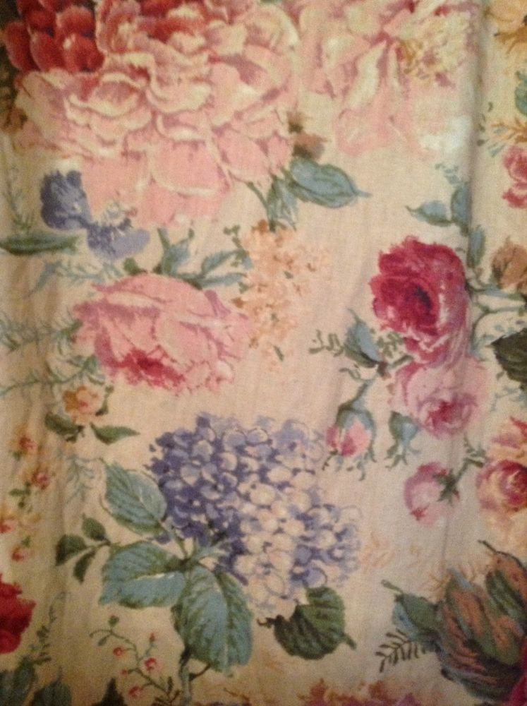 DIY Retro Printing Cloth Natural Cotton Linen Fabric Sewing crafts Rose Pattern