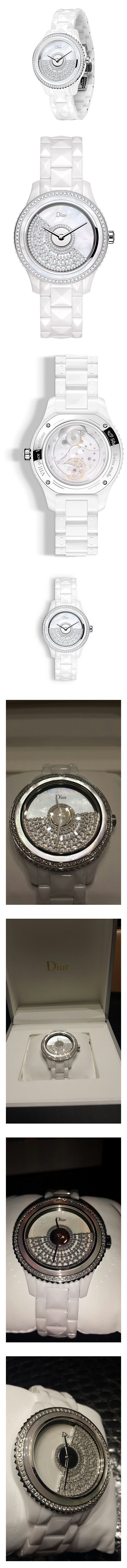 Haute Couture Diva Millionaire Dior GRAND BAL set with Pavee Diamonds #watch #christiandior #wrist_watches #watches #women #departments #shops