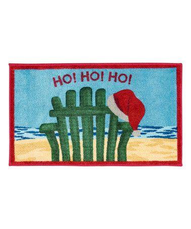 Look at this #zulilyfind! Beach Chair 'Ho Ho Ho'  Accent Rug #zulilyfinds