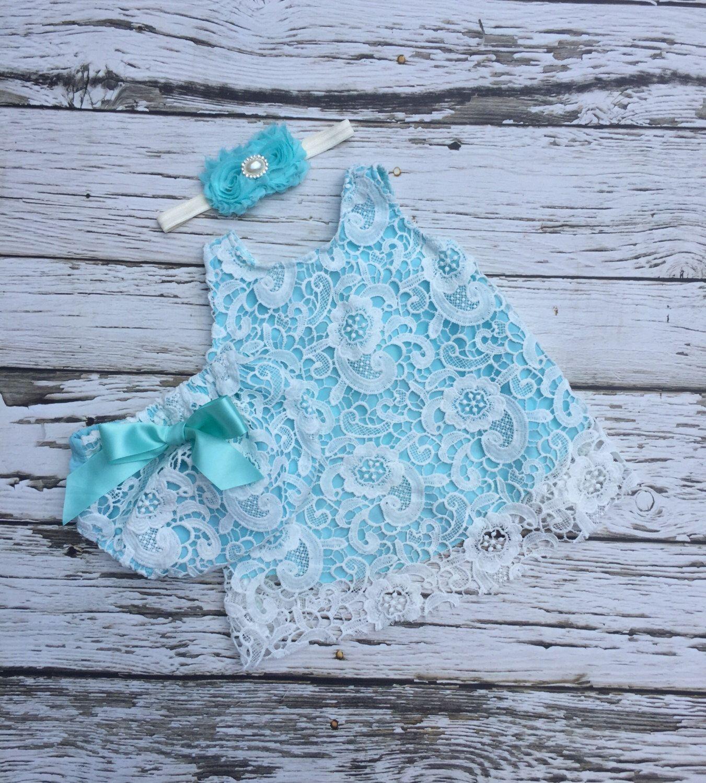 Baby girl dress. Lace baby dress. Baby girl outfit. Aqua baby dress. Swing set. First birthday dress. by KadeesKloset on Etsy https://www.etsy.com/listing/455711632/baby-girl-dress-lace-baby-dress-baby