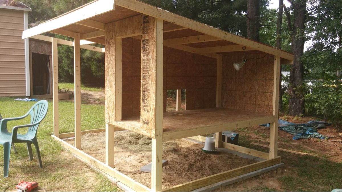 First chicken coop for our first chickens in 2020 ...