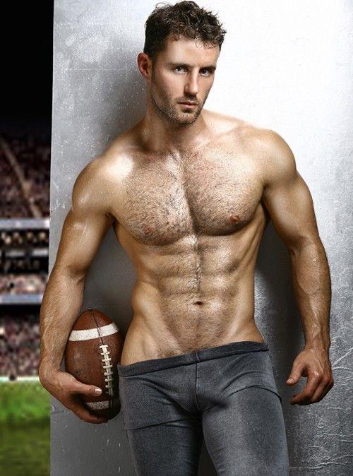 Hairy football players