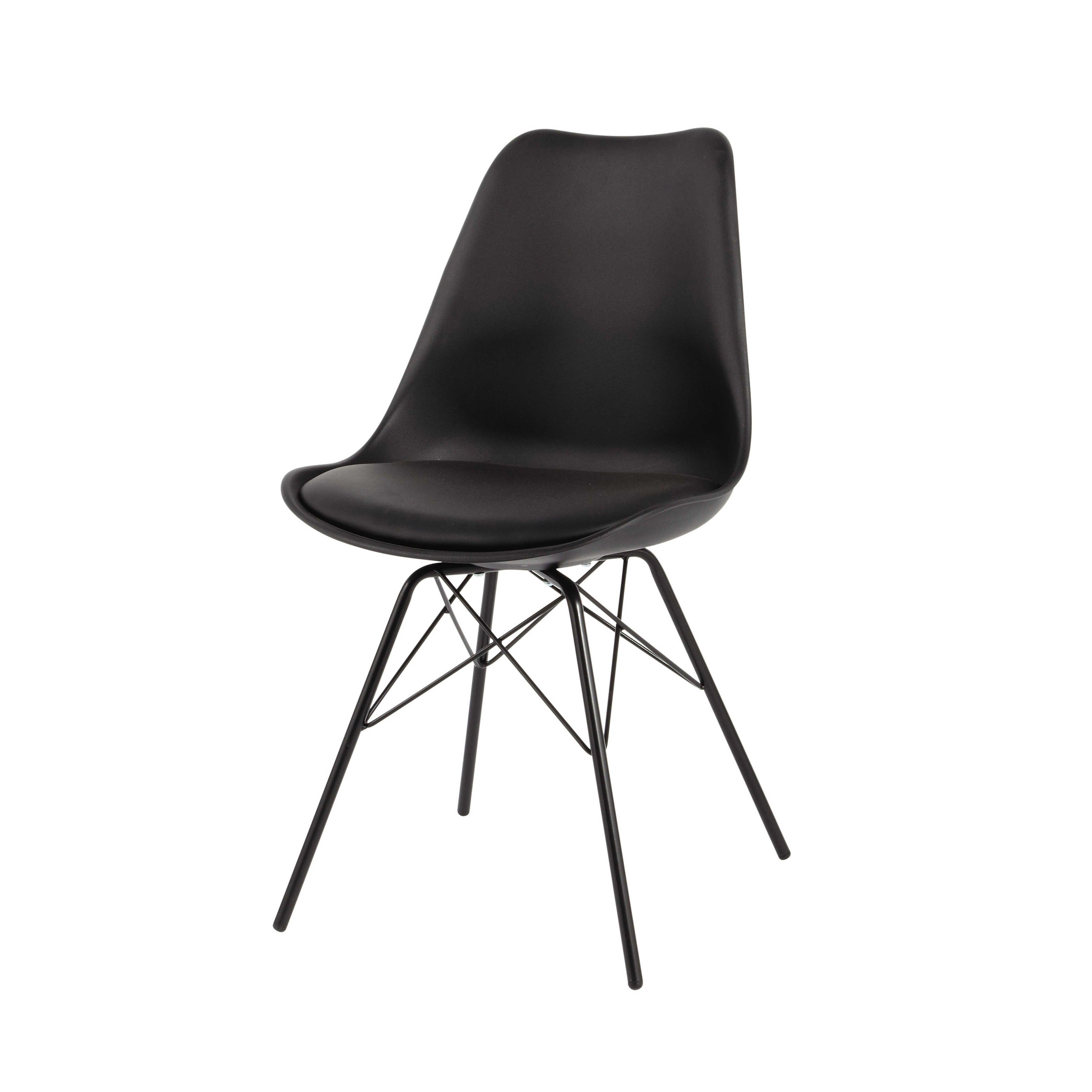 chaise en polypropylene et metal noire coventry metallstuhle coventry schwarze metallstuhle