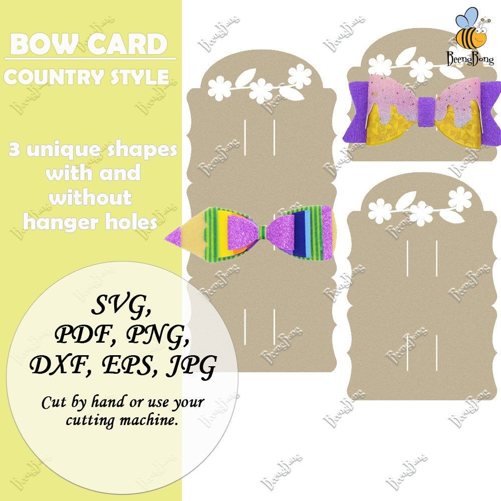 Country Style Bow Holder Template Svg Rustic Hair Bow Display Etsy In 2021 Bow Display Hair Bow Display Display Cards