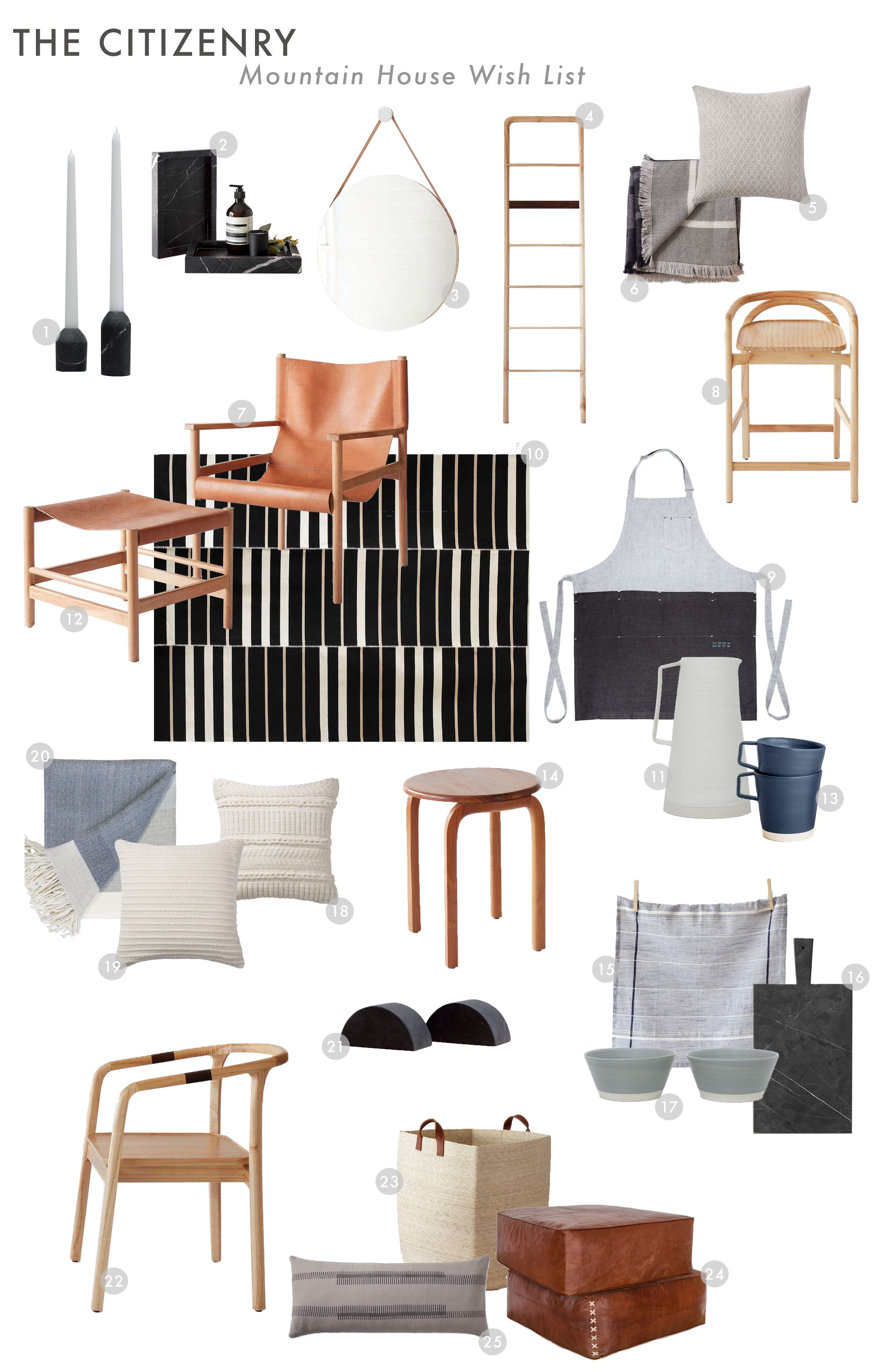 Making My Mountain House Decor Wishlist With The Citizenry