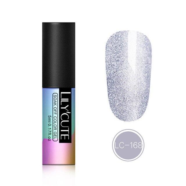 LILYCUTE Glitter Gel Lack Gel Lack 5ML Langlebige Vernis Semi Permanent Maniküre für Nail Art Gel Nagellack   – Products