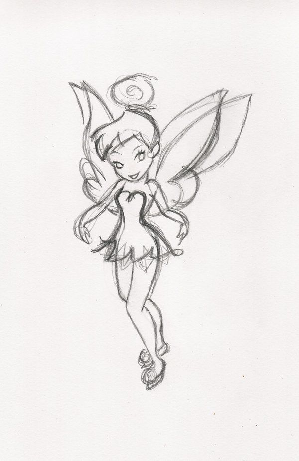 Tink Sketch By Raileigh On Deviantart Dessins Disney Tatouage