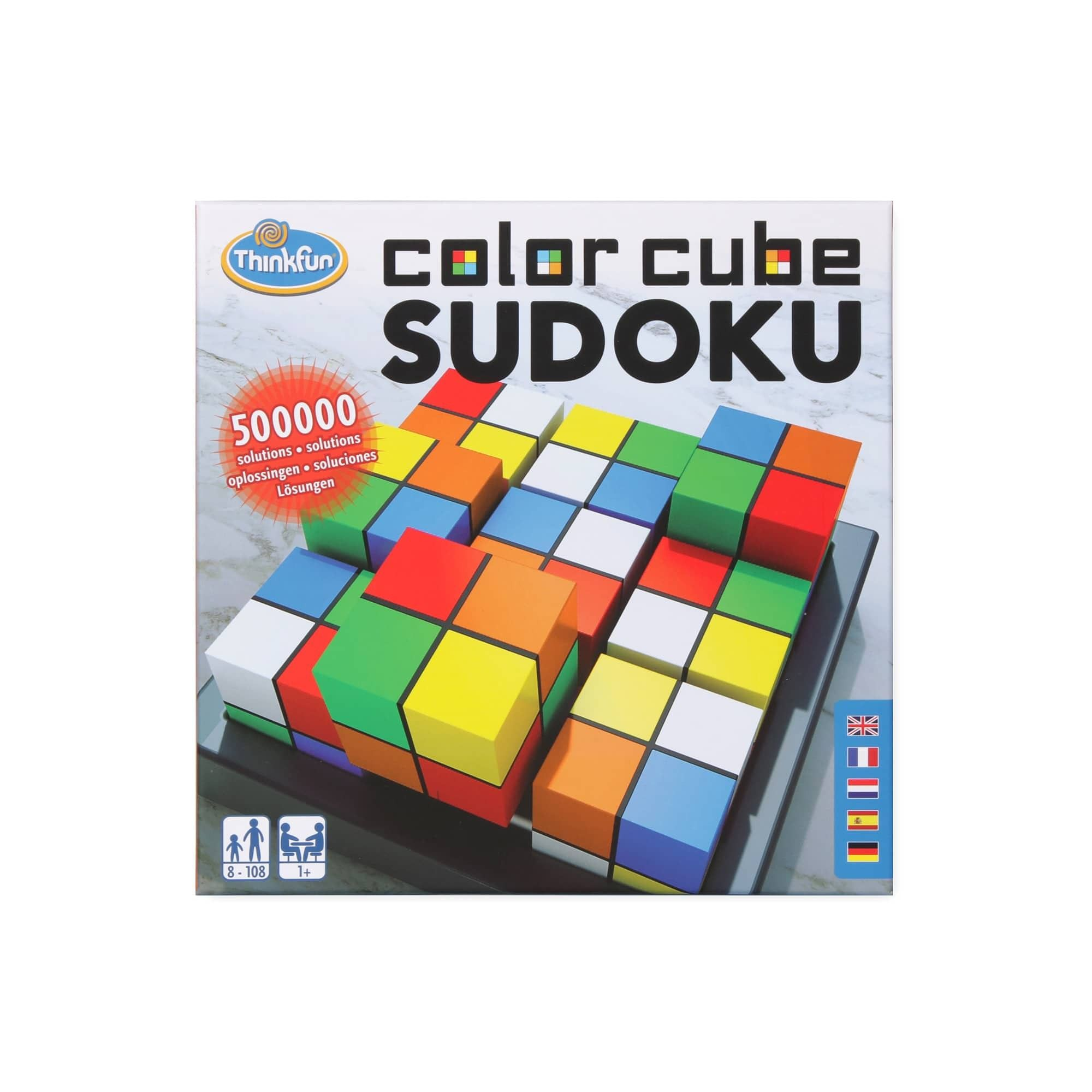 9 cubes coloured on all sides that can be flipped and