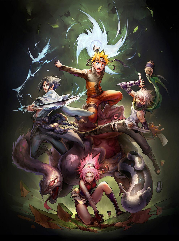 Tags: Fanart, NARUTO, Haruno Sakura, Uzumaki Naruto, Uchiha