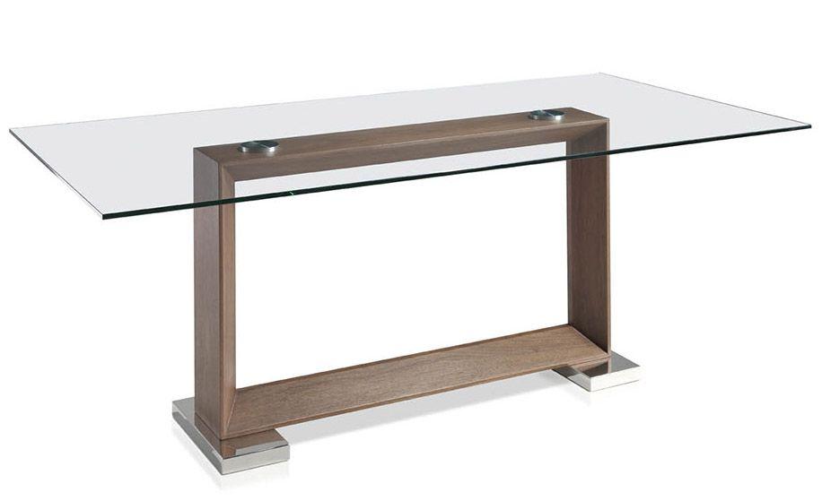 table rectangulaire plateau verre