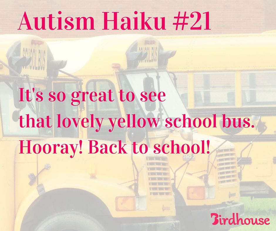 Back to school with Autism