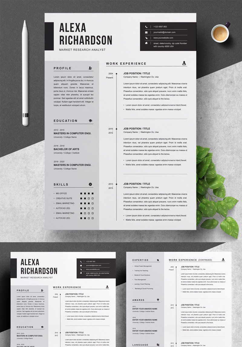 Alexa Resume Template 83022 in 2020 Free resume
