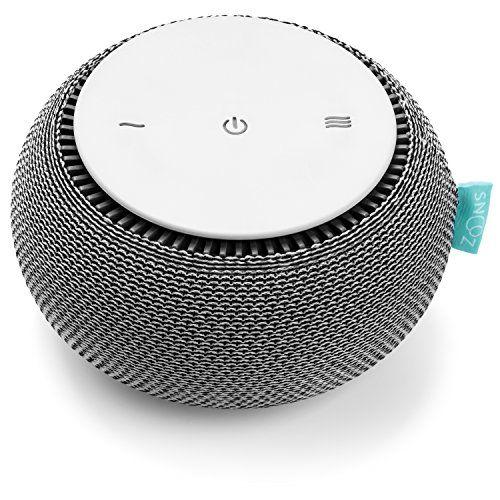 SNOOZ White Noise Machine Real Fan Inside, Control via