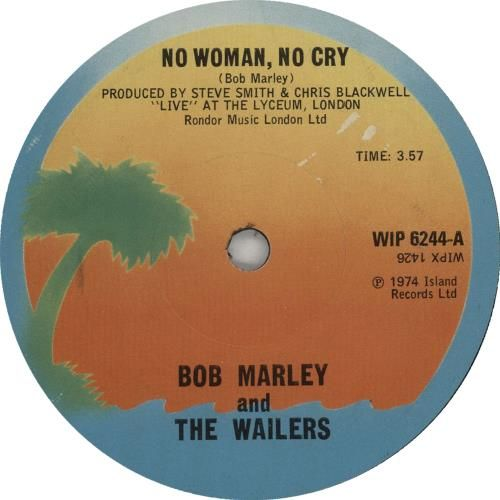 Bob Marley No Woman No Cry Solid Centre Uk 7 Vinyl Single 7 Inch Record Bob Marley The Wailers Sounds Good To Me