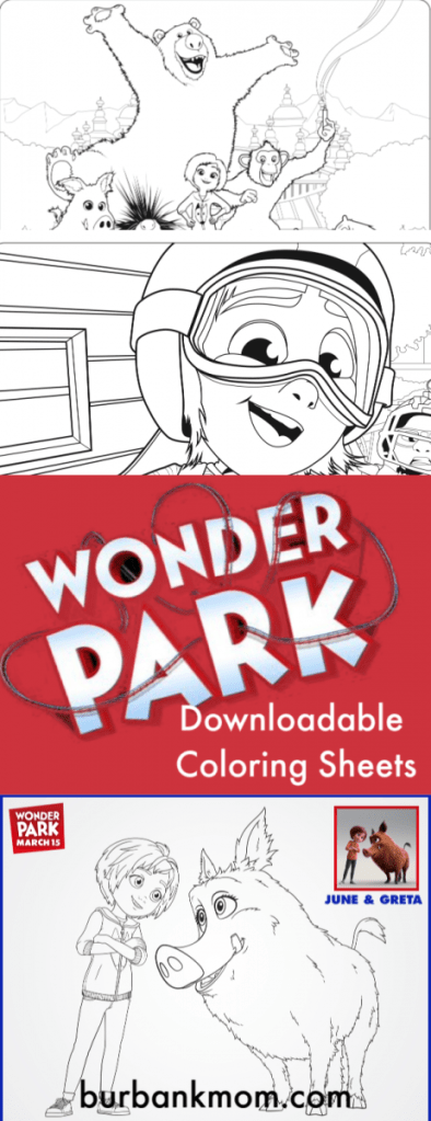 #WonderPark opens in theaters March 15th, but you can get these #Family #ColoringPages now! Download and enjoy! #FreeColoringPages #BurbankMom