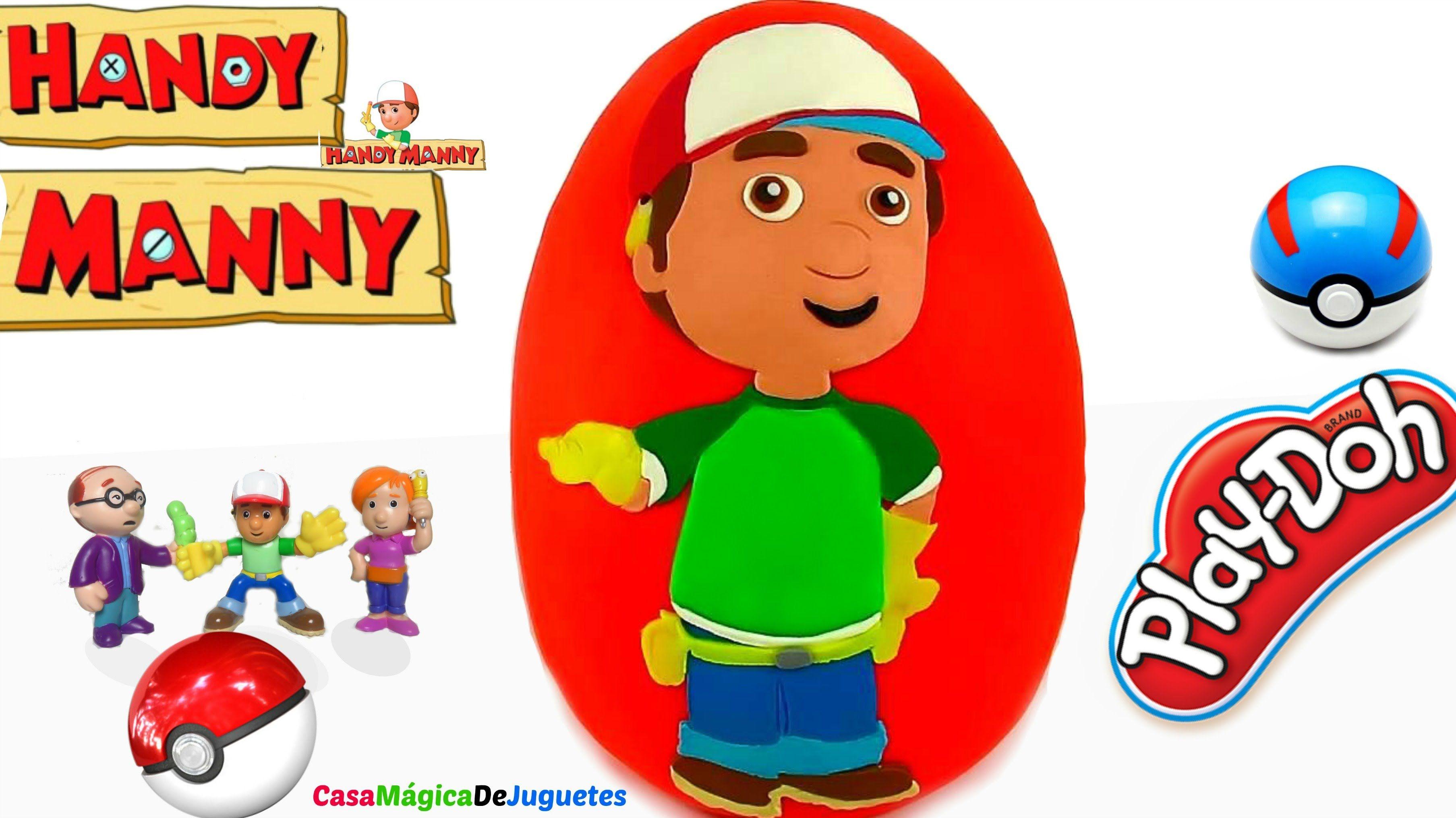 Huevo Sorpresa Gigante de Handy Manny de Plastilina Play
