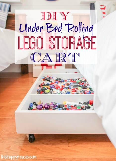 DIY Under Bed Rolling LEGO Storage Cart | The Happy Housie