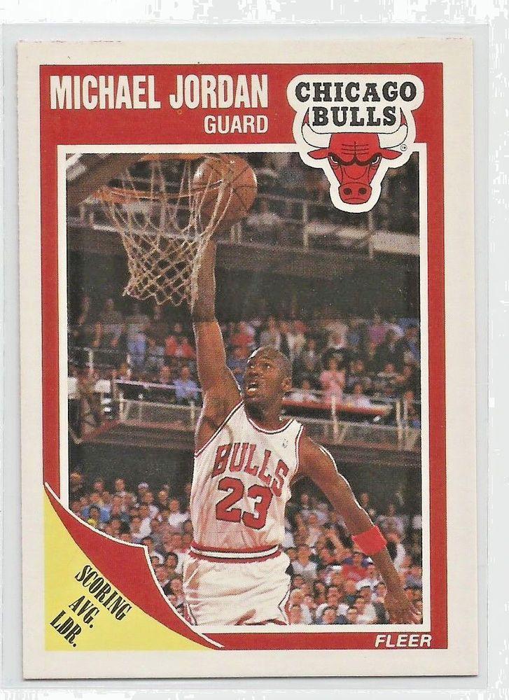 1989 fleer scoring avg leader 21 michael jordan chicago