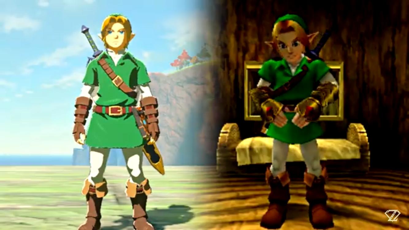 Oot Botw Link Tunic Armor Outfit Legend Of Zelda Legend
