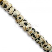 6mm Rondelle Dalmatian Stone Beads   Price : $5.99
