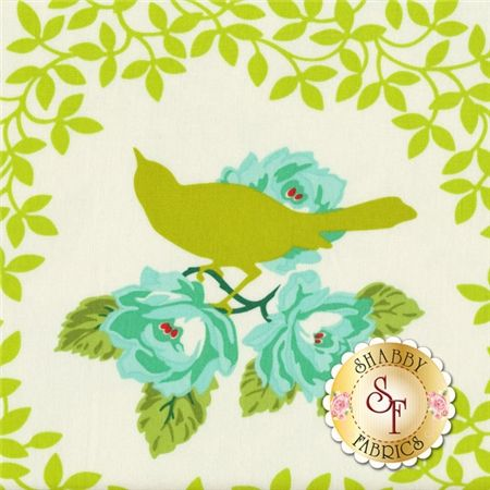 Up Parasol PWHB042-CHART Chartreuse Mockingbird By Heather Bailey For Free Spirit Fabrics