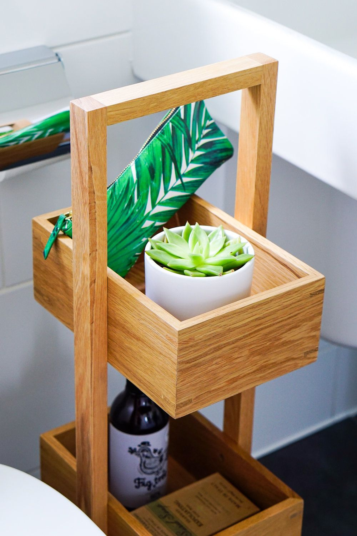 A Botanical Themed Bathroom On Budget