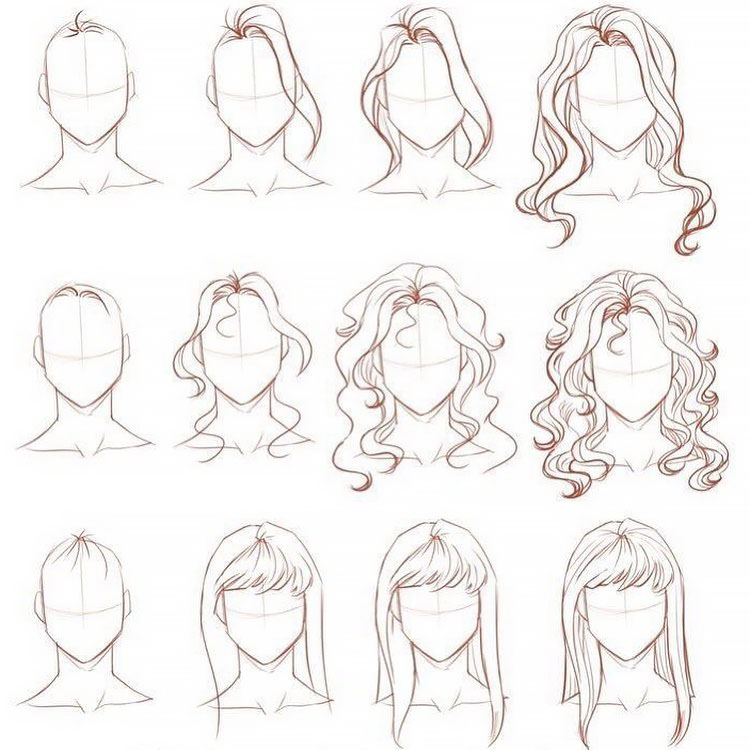 Photo of 22 How to Draw Hair Ideas and Step-by-Step Tutorials
