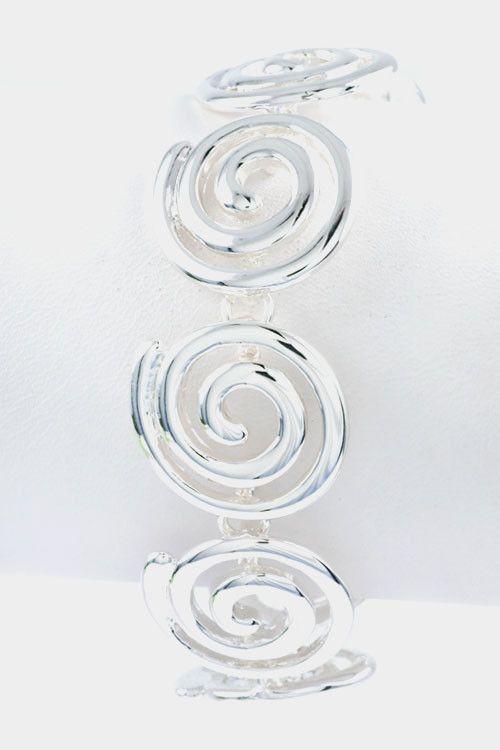 Swirl Linked Bracelet