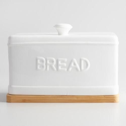 Our Dual Purpose Bread Bin Features An Embossed Ceramic Lid That