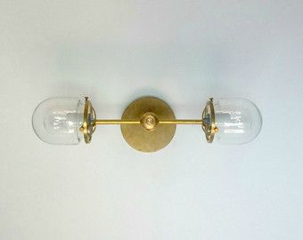 Bathroom Lighting Measurements etsy light shop - *great prices* the double loa sconce has two