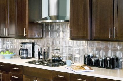 Brighten Up Any Kitchen With Armstrong's Metallaire™ Stainless Mesmerizing Tin Backsplash For Kitchen Decorating Inspiration