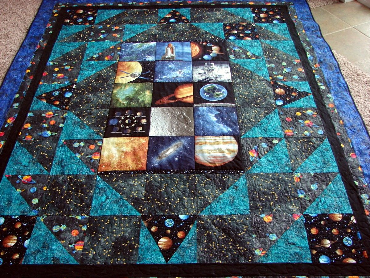 Space Quilt Google Search Quilts Constellation Quilt