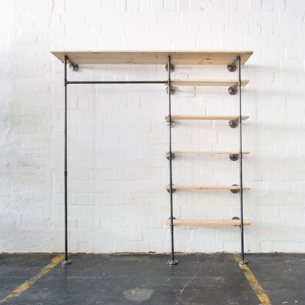 Photo of Garderobe Industrial Design mit Regal maßgefertigt online bestell
