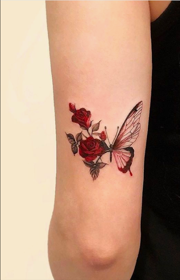 20 Simple and Beautiful Butterfly Tattoos Mainly for Your Fingers, Backs and Arms