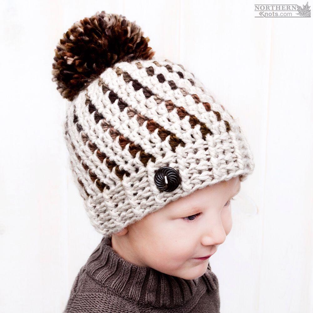 Crochet hat pattern - Northern Lights Beanie (Hat) by Northern Knots ...