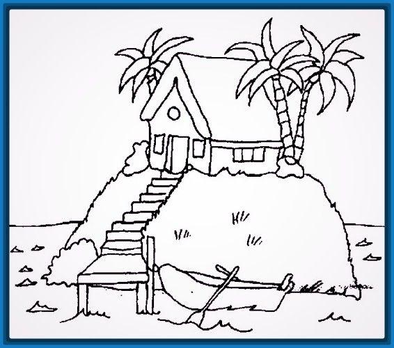 Ver casas faciles para dibujar trazos paso a paso pinterest coloring pages color and - Fotos de casas para dibujar ...