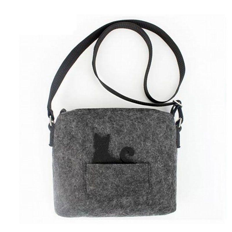 NEW Cute Small Messenger Handbag Design Eco-Friend Felt Purse Crossbody Bag | eBay