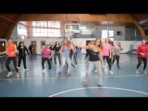 """Raquel Call teaching """"180 180 360 """" Zumba Class Chile - YouTube"""