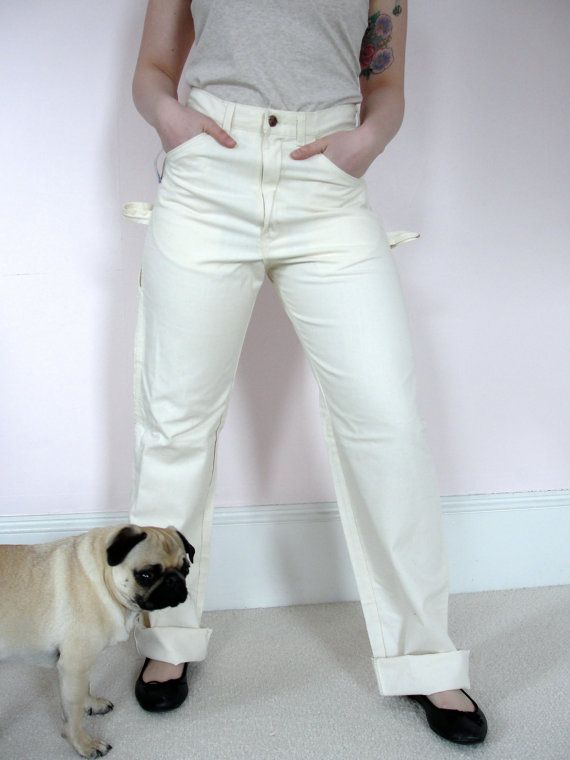 Vintage High Waist DEE CEE White Painters Pants Painter Jeans ...
