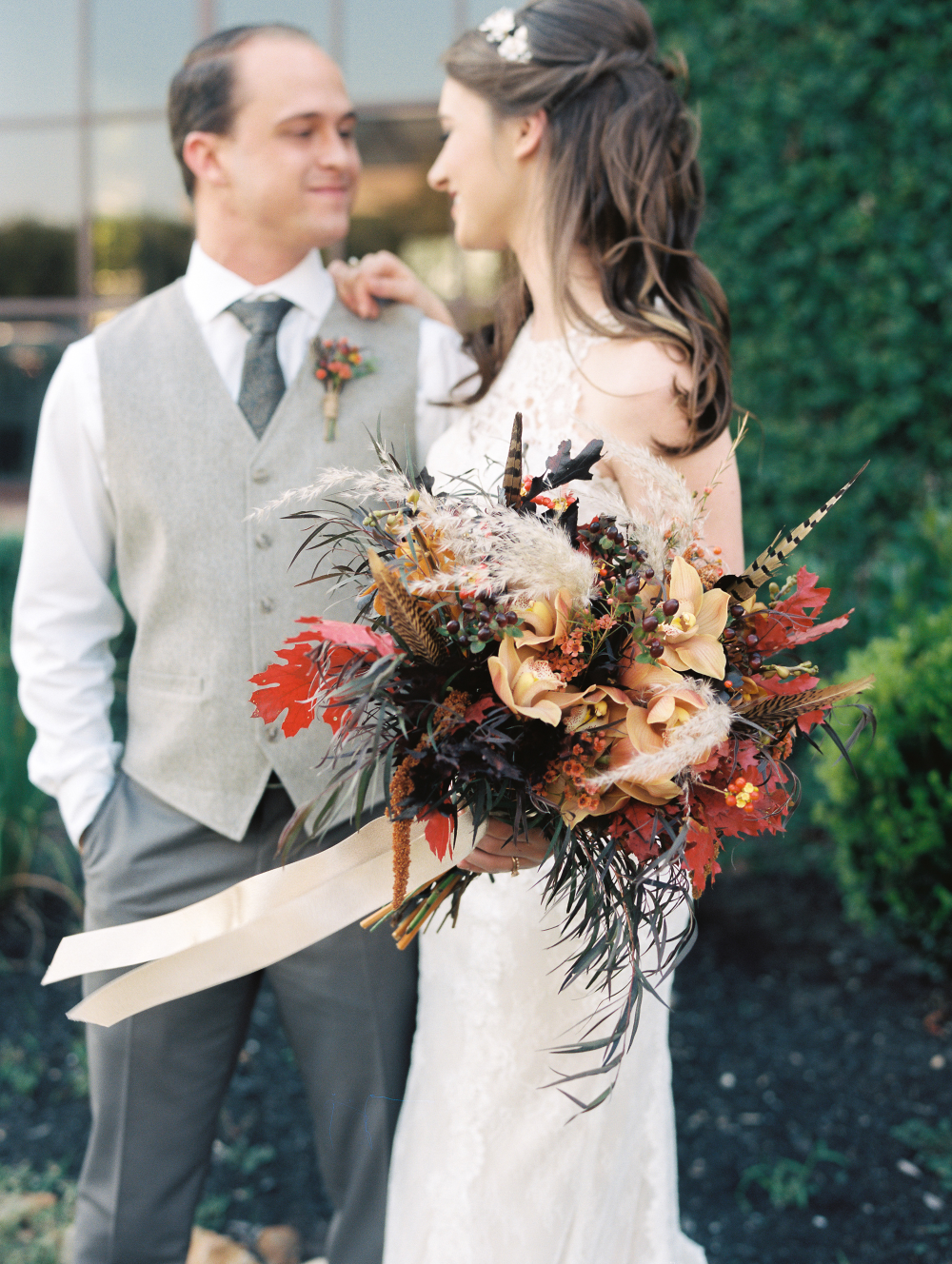 Matt Hannah Bridal Bouquet Fall Wedding Wedding Moments