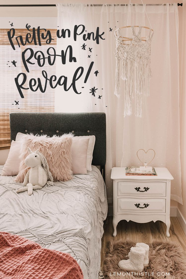 Pretty In Pink Modern Girl S Bedroom Orc Reveal Girls Bedroom