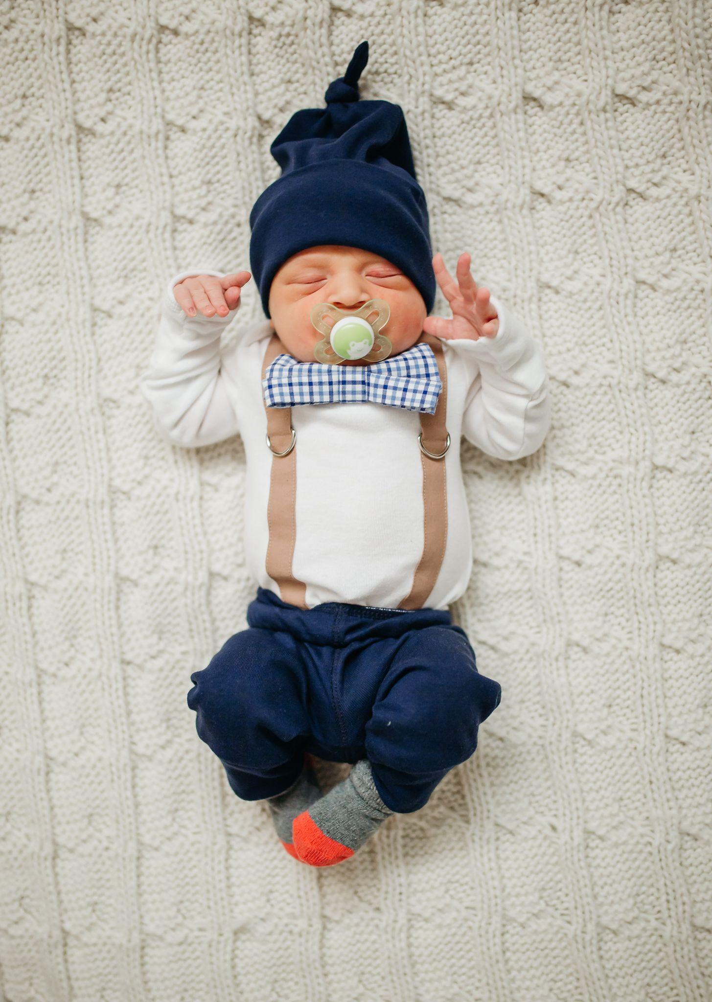 17d8d1cef Dressy Newborn Boy Outfit  Mocha   Navy