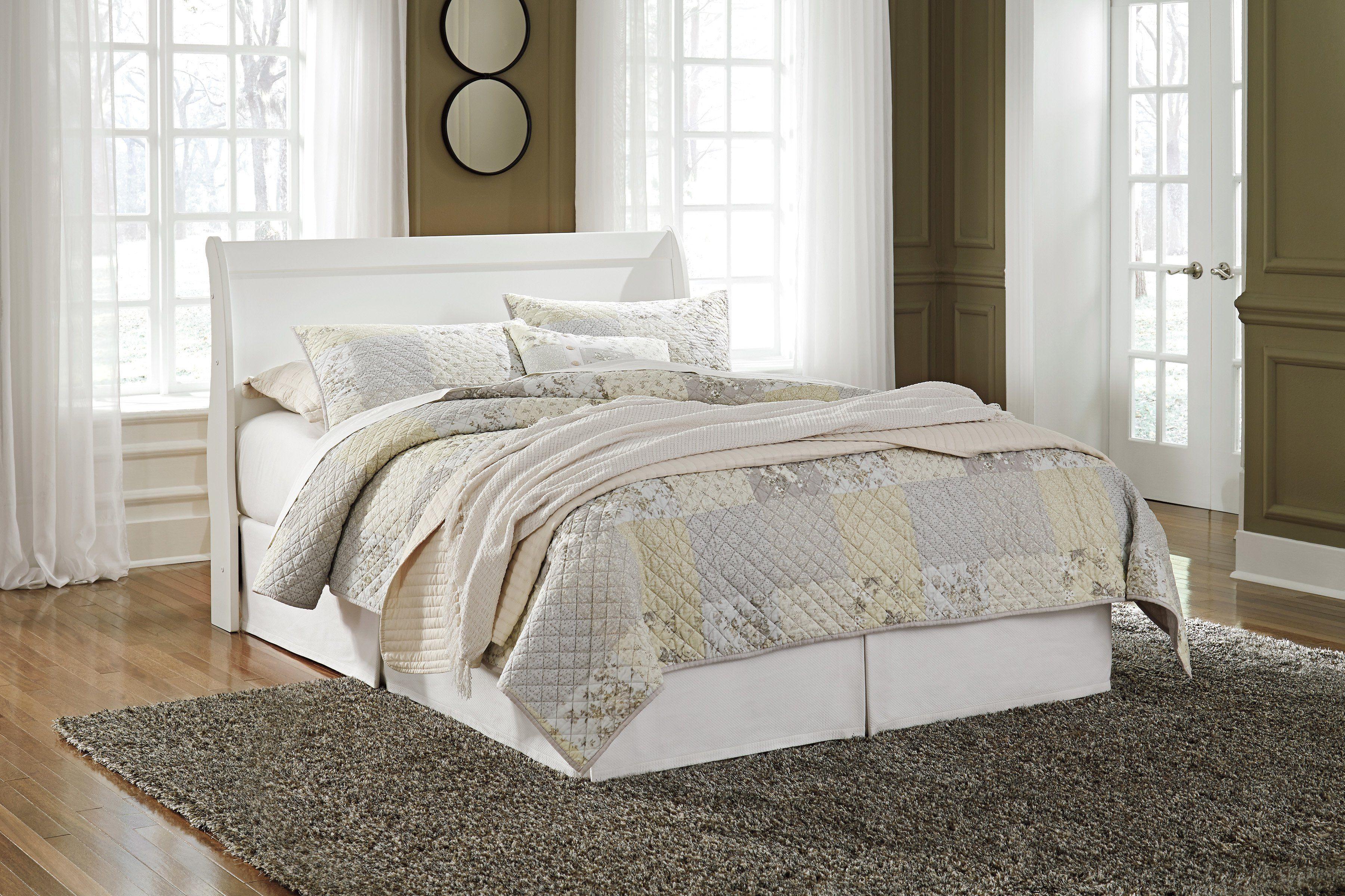 Best Anarasia Sleigh Headboard White White Headboard 640 x 480